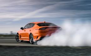 Picture orange, smoke, KIA, Kia, GTS, the five-door, Stinger, 2020, fastback, KIΛ