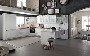 Picture design, Villa, interior, kitchen, BEVERLY