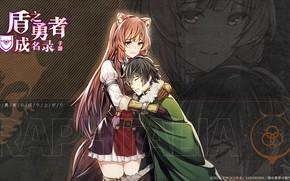 Picture hugs, two, comfort, The Rise Of Shield Hero, The Rising of the Shield Hero, Raphtalia, …
