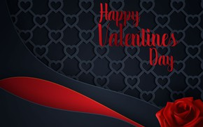 Picture love, line, background, rose, hearts, love, red, Valentine's day, hearts