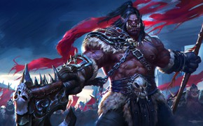 Picture WOW, Blizzard, Art, Orc, WarCraft, Illustration, Characters, Grom Hellscream, Grom Hellscream, Game Art, World of …