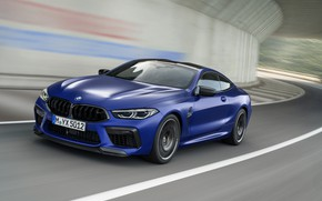 Picture movement, coupe, speed, BMW, 2019, BMW M8, M8, M8 Competition Coupe, M8 Coupe, F92