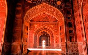 Picture India, Taj Mahal, mosque, Agra