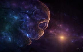 Picture Stars, Skull, Space, Nebula, Star, Star, Art, Stars, Space, Art, Sake, Nebula, Space, by Gabriel …