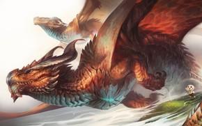Picture Dragon, Rabbit, Wings, Fantasy, Dragon, Art, Art, Dragons, Wings, Dragons, Bunny, Creatures, Claudya Schmidt, by …