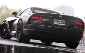 Picture Auto, Black, Machine, Dodge, Viper, Dodge Viper, ACR, Dodge Viper ACR, Transport & Vehicles, FLAT …