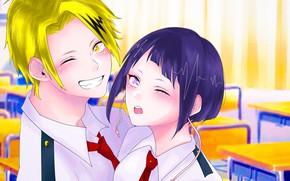 Picture girl, pair, guy, My Hero Academia, Boku No Hero Academy, My Hero Academy