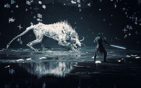 Picture warrior, beast, Hellblade Senua's Sacrifice