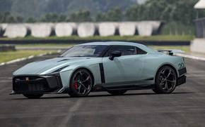 Picture asphalt, track, Nissan, GT-R, R35, Nismo, ItalDesign, 2020, V6, GT-R50, 720 HP