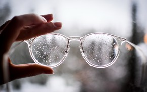 Picture background, hand, glasses