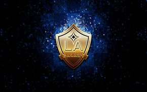 Picture wallpaper, sport, logo, football, Los Angeles Galaxy, glitter, checkered, MLS
