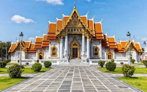 Picture the city, temple, Thailand, Bangkok