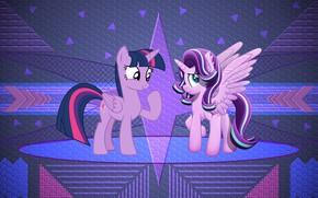 Wallpaper fan art, my little pony, magic pony, kuroran pony, pony fendomy, mlp art, magnaluna