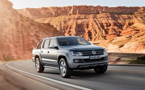 Picture road, Volkswagen, pickup, Ultimate, Amarok, 2014