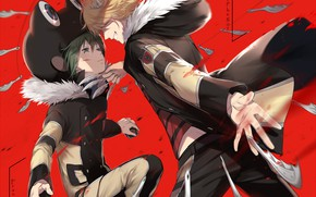 Picture anime, art, guys, Katekyo Hitman Reborn, Teacher mafia Reborn, BELPHEGOR, Fran