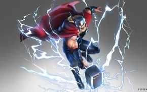 Picture hammer, marvel, thor, God of Thunder, Thor Odinson, the black order, marvel ultimate alliance 3