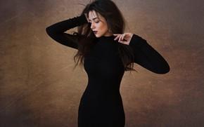 Picture pose, Girl, hands, figure, dress, Christina, Dmitry Shulgin