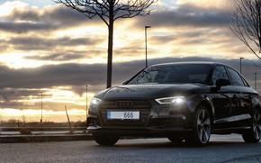 Picture Audi, Audi, Prague, Airport, Audi A3, Prague, Facelift, Audi A3 sedan, Audi A3, A3 Sedan, …