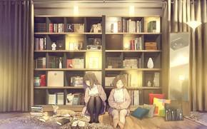 Picture Cat, Room, Girls, Shelves