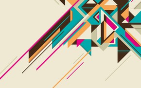 Picture abstraction, vector, geometry, color