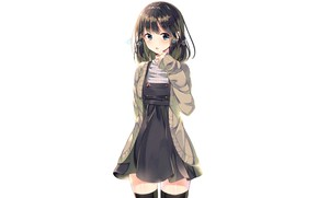 Picture girl, background, anime