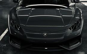 Picture HDR, Lamborghini, Front, Game, Silver, Huracan, Lamborghini Huracan, Filter, FM7, UHD, Forza Motorsport 7, 4K, …