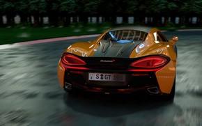 Picture McLaren, supercar, rear view, 570S