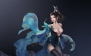 Picture Girl, Fantasy, Beautiful, Art, Asian, Style, Illustration, Asia, Characters, Dress, 3Q STUDIO
