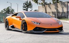 Picture Lamborghini, Lamborghini, LP 610-4, Huracan, Lamborghini Huracan, Watch free Lamborghini LP 610-4, Orange Borealis