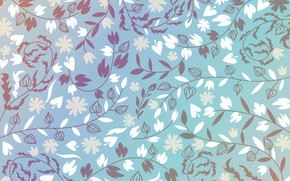 Picture flowers, background, pattern