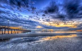 Picture sea, the sun, sunset, shore