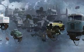 Picture The sky, Auto, Figure, The city, Machine, The world, City, World, Fantasy, Sky, Car, Art, …