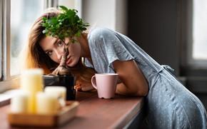Picture look, pose, Girl, dress, mug, EIKONAS, Kate Chromia, Kateryna Marchenko