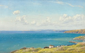 Picture Arthur Hughes, Mountainous Bay, CA. 1899