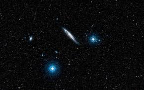 Picture Galaxy, Spiral Galaxy, NGC 4945, Wide Field View, Digitized Sky Survey 2, Constellation Centaurus