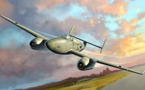 Wallpaper Heinkel, German jet fighter, committed solo flight, He 280, the first jet fighter in the ...