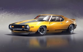 Picture Auto, Machine, Muscle Car, Transport & Vehicles, AMC Javelin, by Timothy Adry, Timothy Adry, 74' …