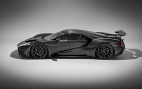 Picture Ford, supercar, Ford GT, side view, 2020, Liquid Carbon