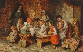 Picture German painter, German painter, Hermann von Kaulbach, Hermann von Kaulbach, Munich School, oil on panel, …