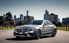 Wallpaper Mercedes, sedan, Mercedes, AMG, C-class, W205
