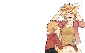 Picture Mother, My Hero Academia, Boku No Hero Academy, Son, My Hero Academy, Bakuga Katsuki
