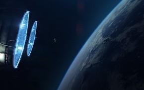 Picture Planet, Space, Astronaut, Astronaut, Engines, Art, Space, Art, Planet, Orbit, Orbit, Astronaut, Nozzle, Engines, Vadim ...