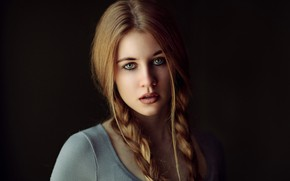 Wallpaper girl, portrait, Elisa, Sergey Bidun