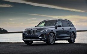 Picture water, shore, BMW, 2018, crossover, SUV, 2019, BMW X7, X7, G07