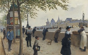 Picture picture, the urban landscape, Jean Beraud, Pont-Neuf, Jean Beraud