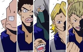 Picture collage, anime, guys, My Hero Academia, Boku No Hero Academy, My Hero Academy