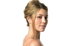 Picture look, model, portrait, makeup, actress, Jessica Biel, hair, Jessica Biel, make up