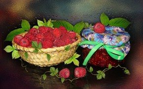 Picture raspberry, berry, still life, the Wallpapers, author's photo by Elena Anikina, raspberry jam