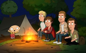 Picture Nature, Night, Fire, The fire, Tent, Family guy, Stewie, Family Guy, Horror, Cartoon, Stewie, Stewie …