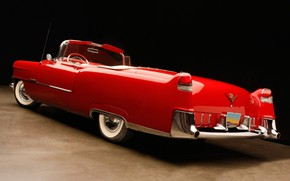Picture Cadillac, Red, Car, Old, Convertible